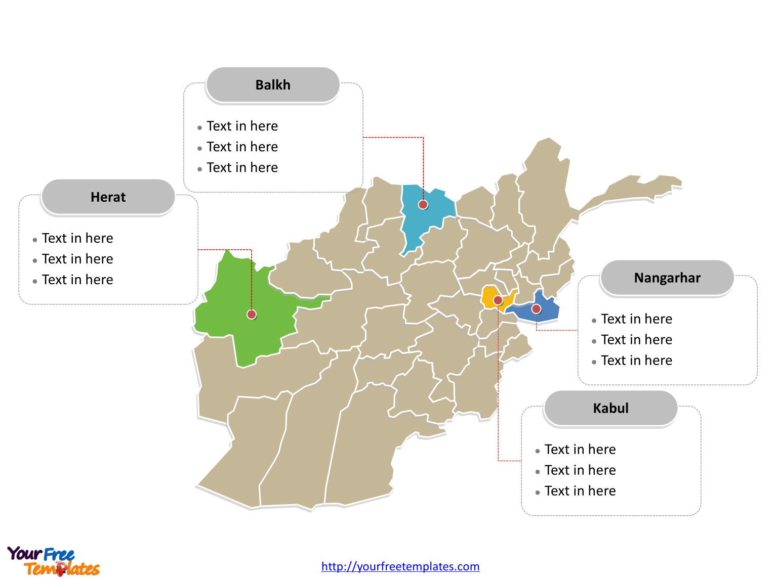 Free afghanistan editable map free powerpoint templates afghanistan political map labeled with major provinces gumiabroncs Images