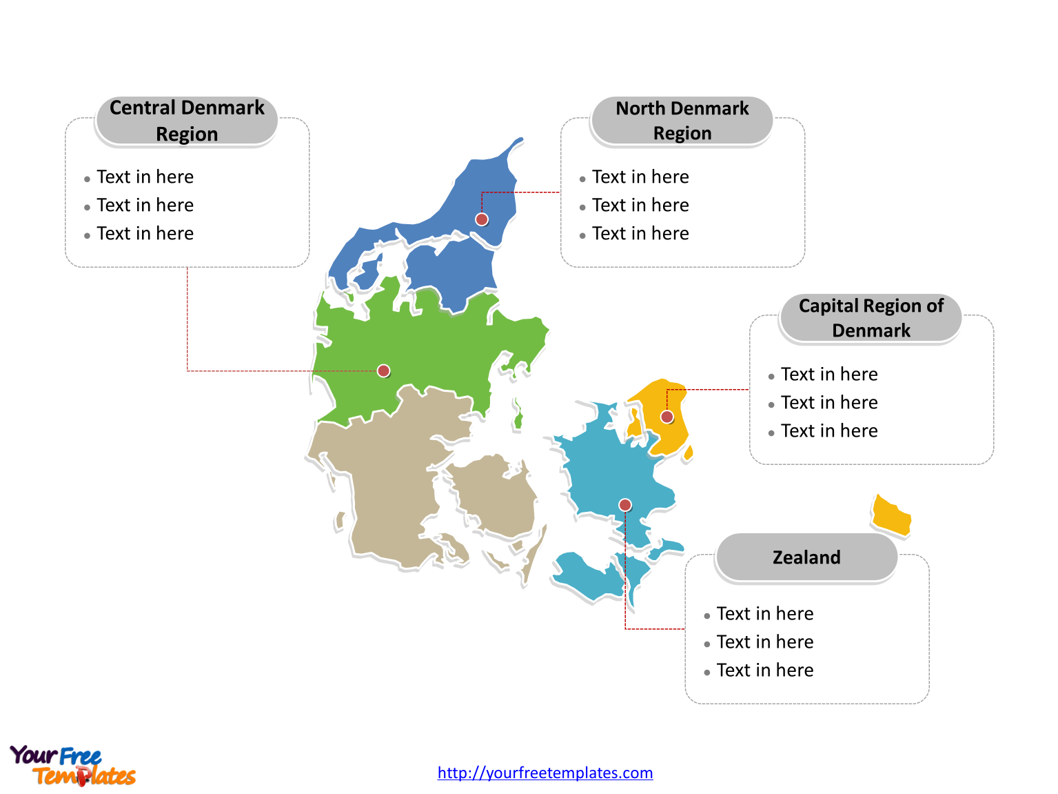 Free Denmark PowerPoint Map - Free PowerPoint Templates