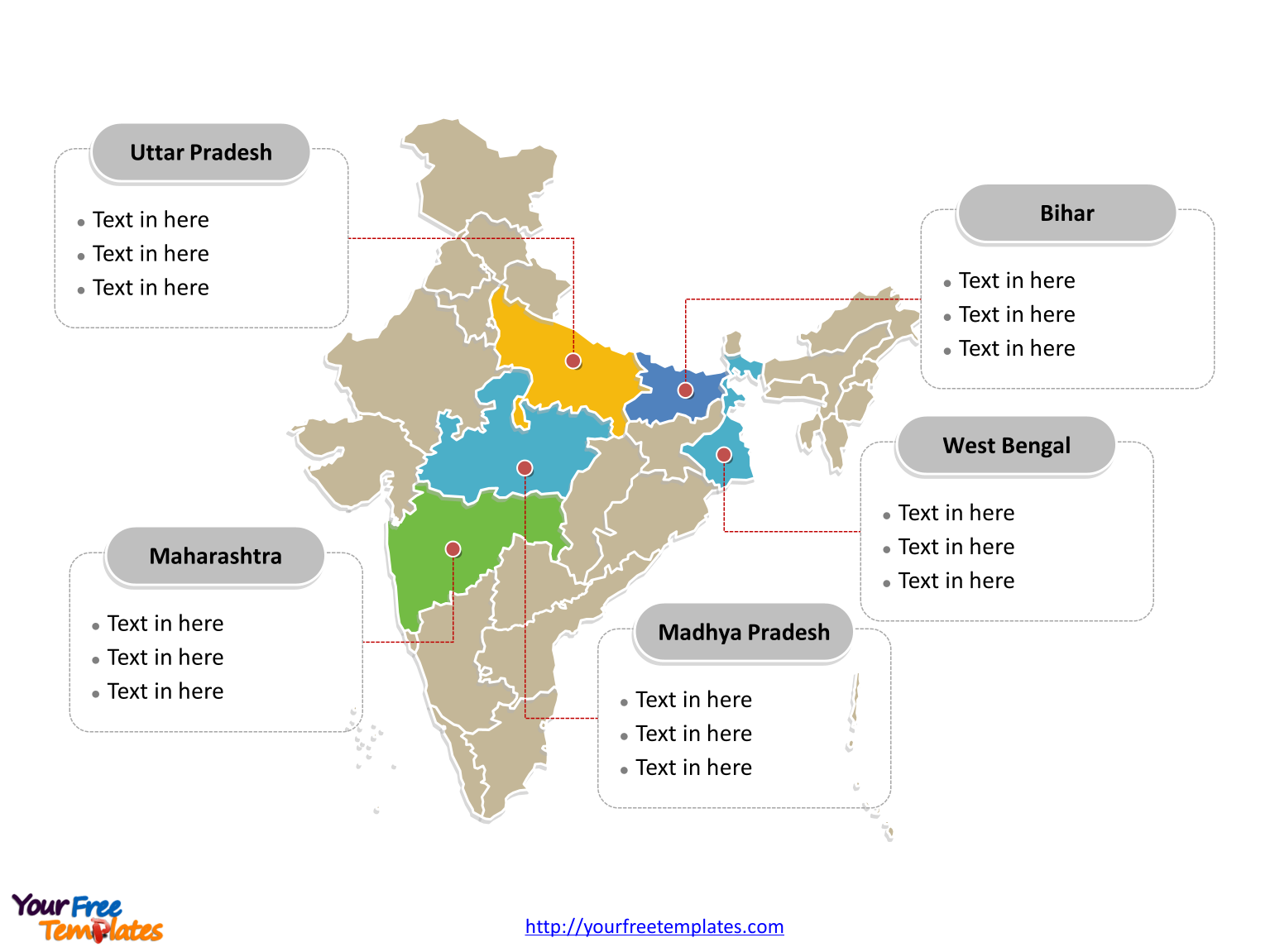 India map blank templates free powerpoint templates map of india with political division and major states labeled on the india map blank templates gumiabroncs Images