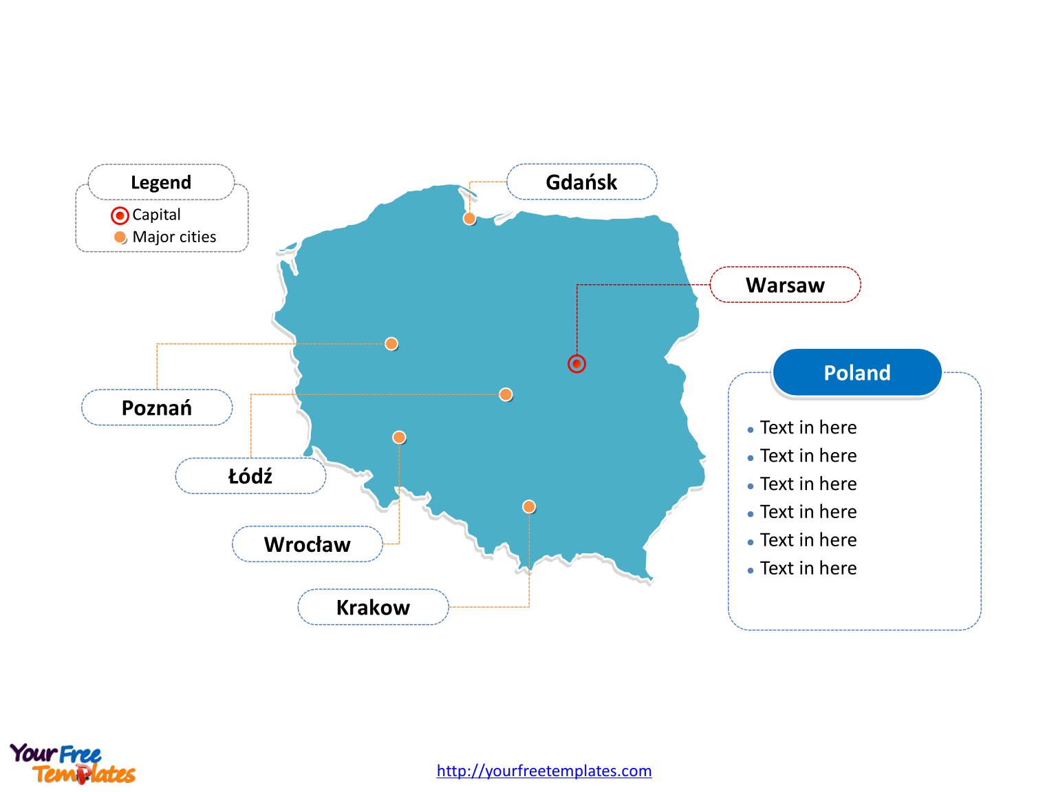 Capital Of Poland Map.Free Poland Powerpoint Map Free Powerpoint Templates