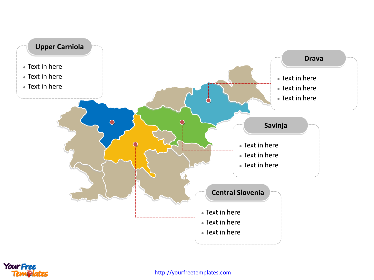 Free slovenia editable map free powerpoint templates slovenia political map labeled with major regions gumiabroncs Gallery