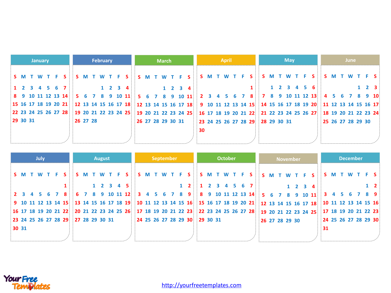 Free calendar 2017 powerpoint template free powerpoint templates calendar 2017 with every date toneelgroepblik