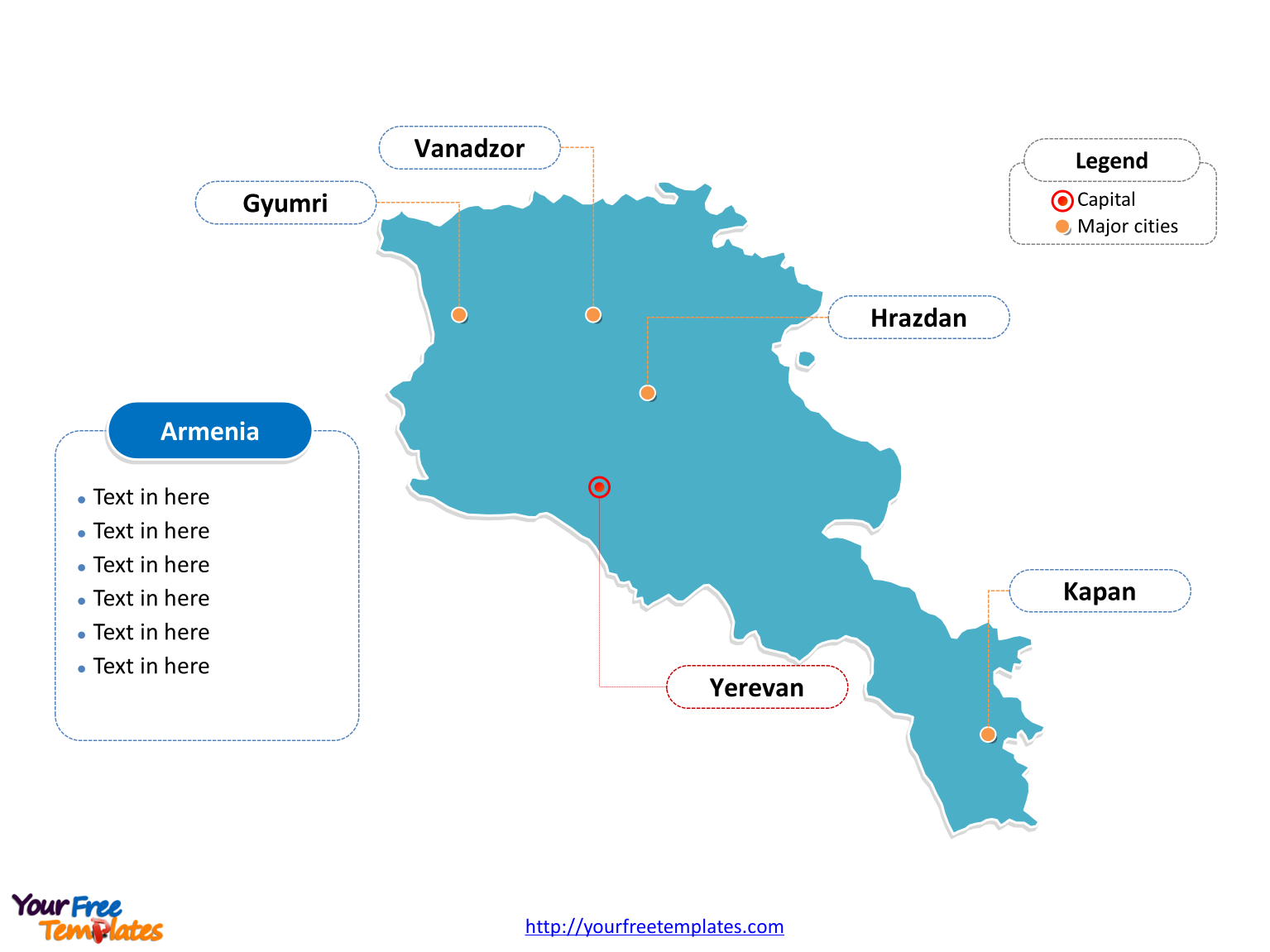 Free Armenia PowerPoint Map Free PowerPoint Templates - Armenia map