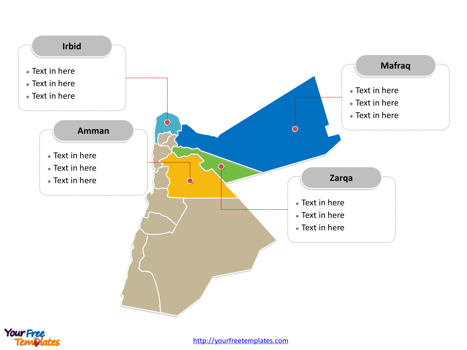 Political Map Of Jordan.Free Jordan Editable Map Free Powerpoint Templates