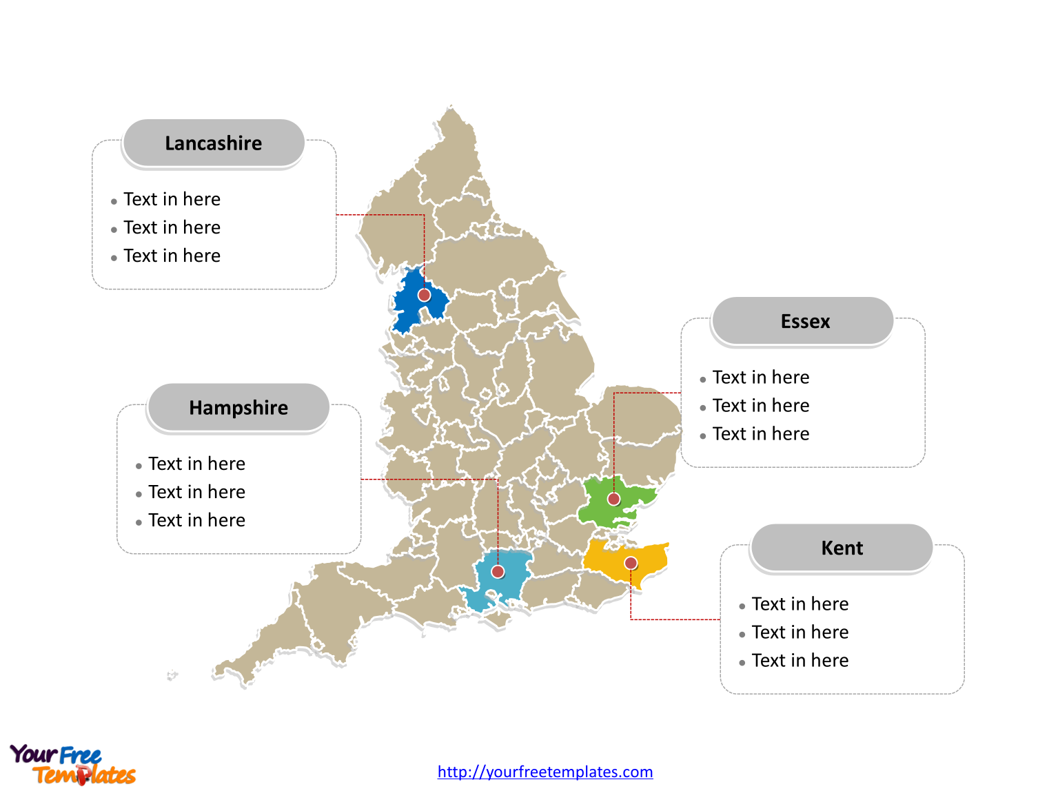 Free England Map Templates Free Powerpoint Templates