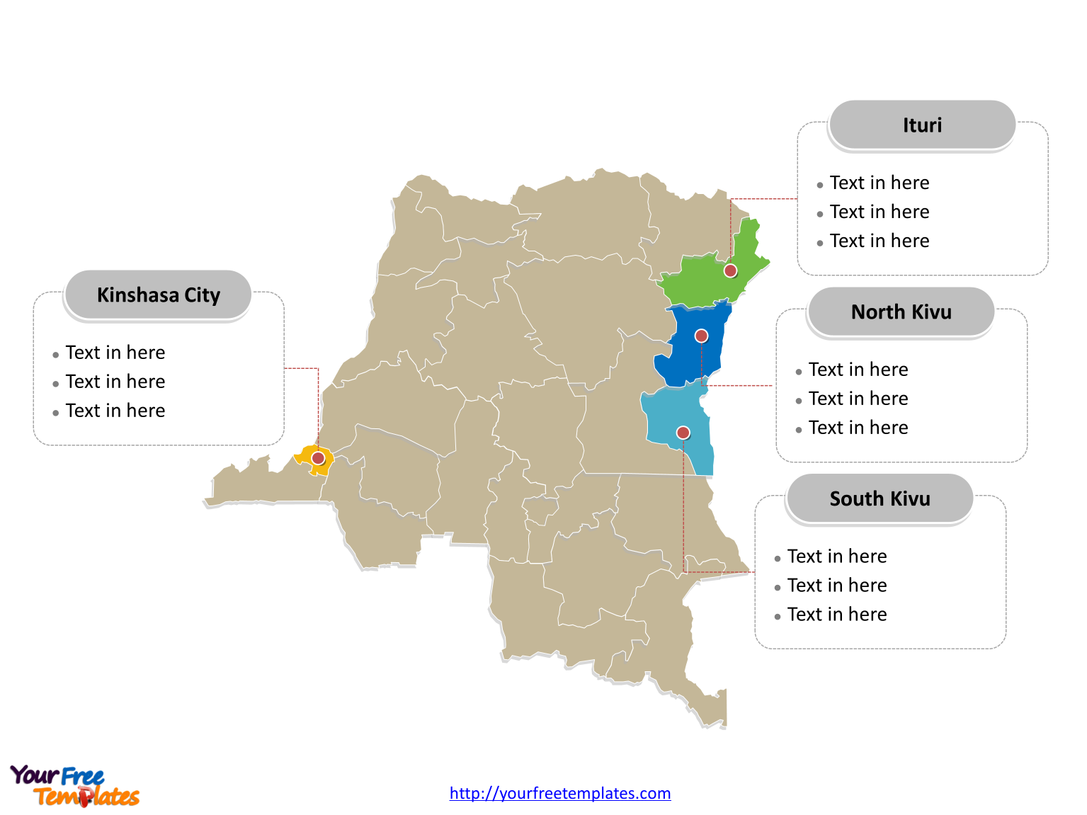 Free Democratic Congo Editable Map Free PowerPoint Templates