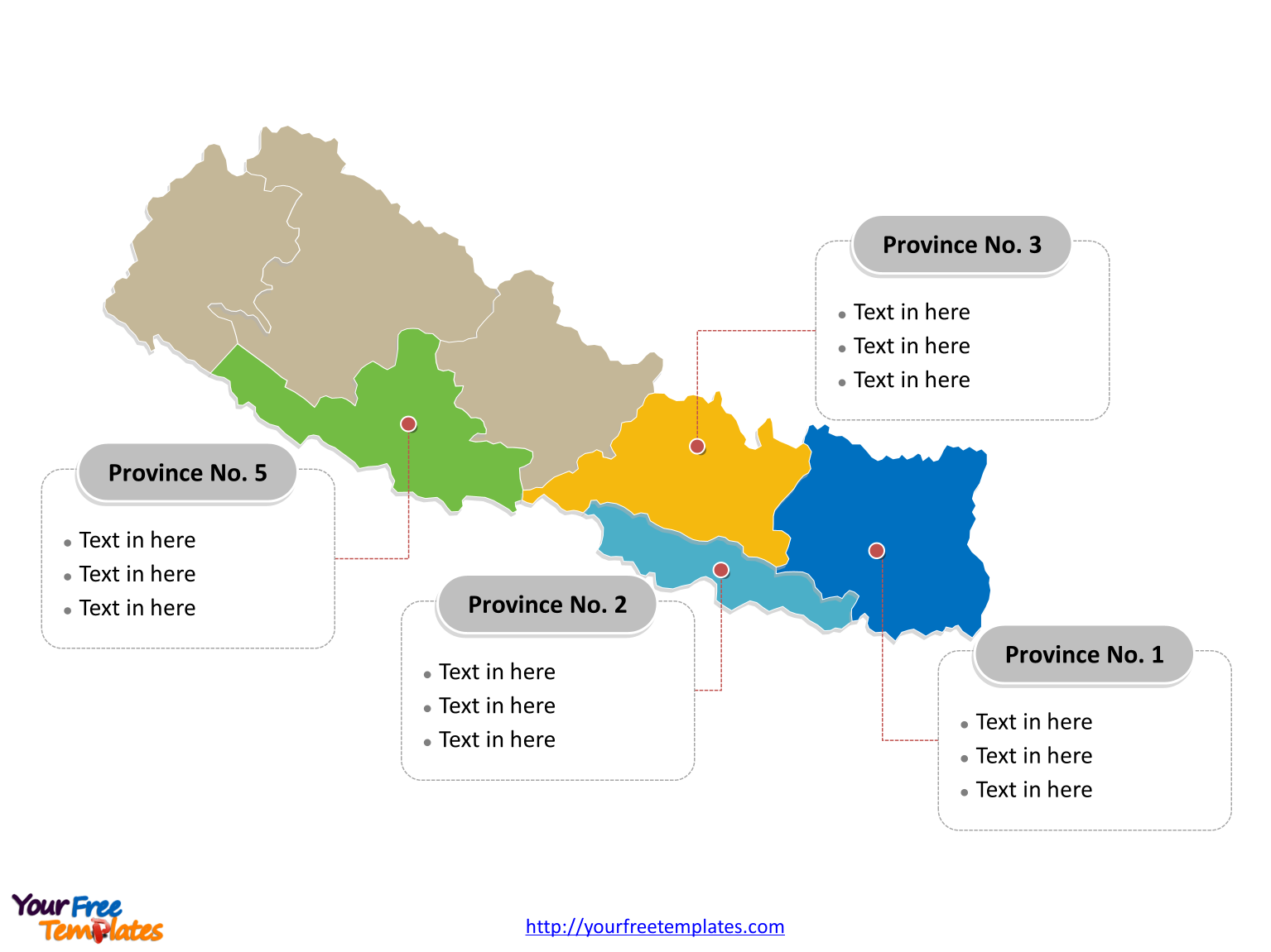 nepal political map labeled with major provinces