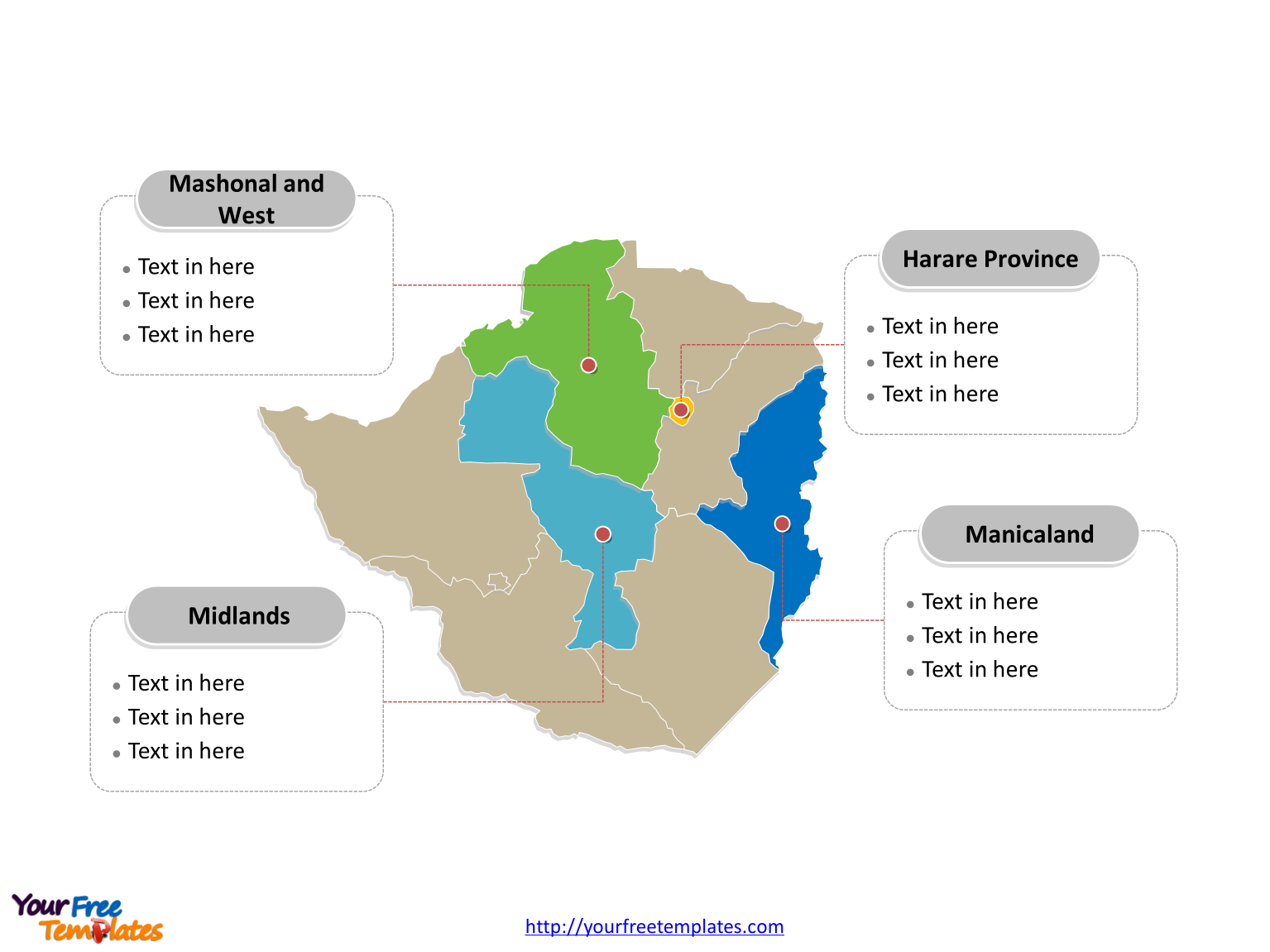 Free zimbabwe editable map free powerpoint templates zimbabwe political map labeled with major provinces gumiabroncs Images
