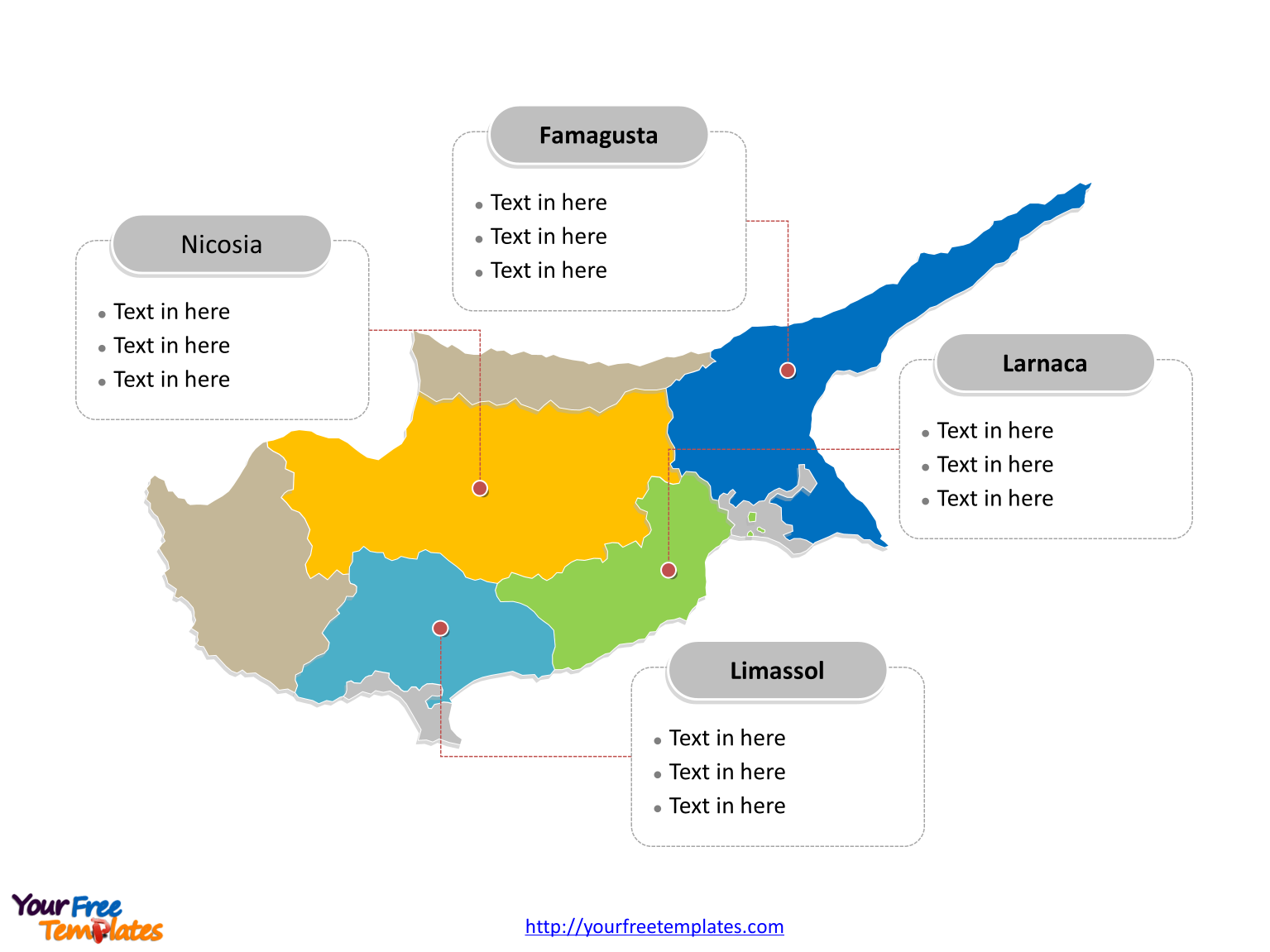 Free Cyprus Editable Map Free PowerPoint Templates - Cyprus blank map