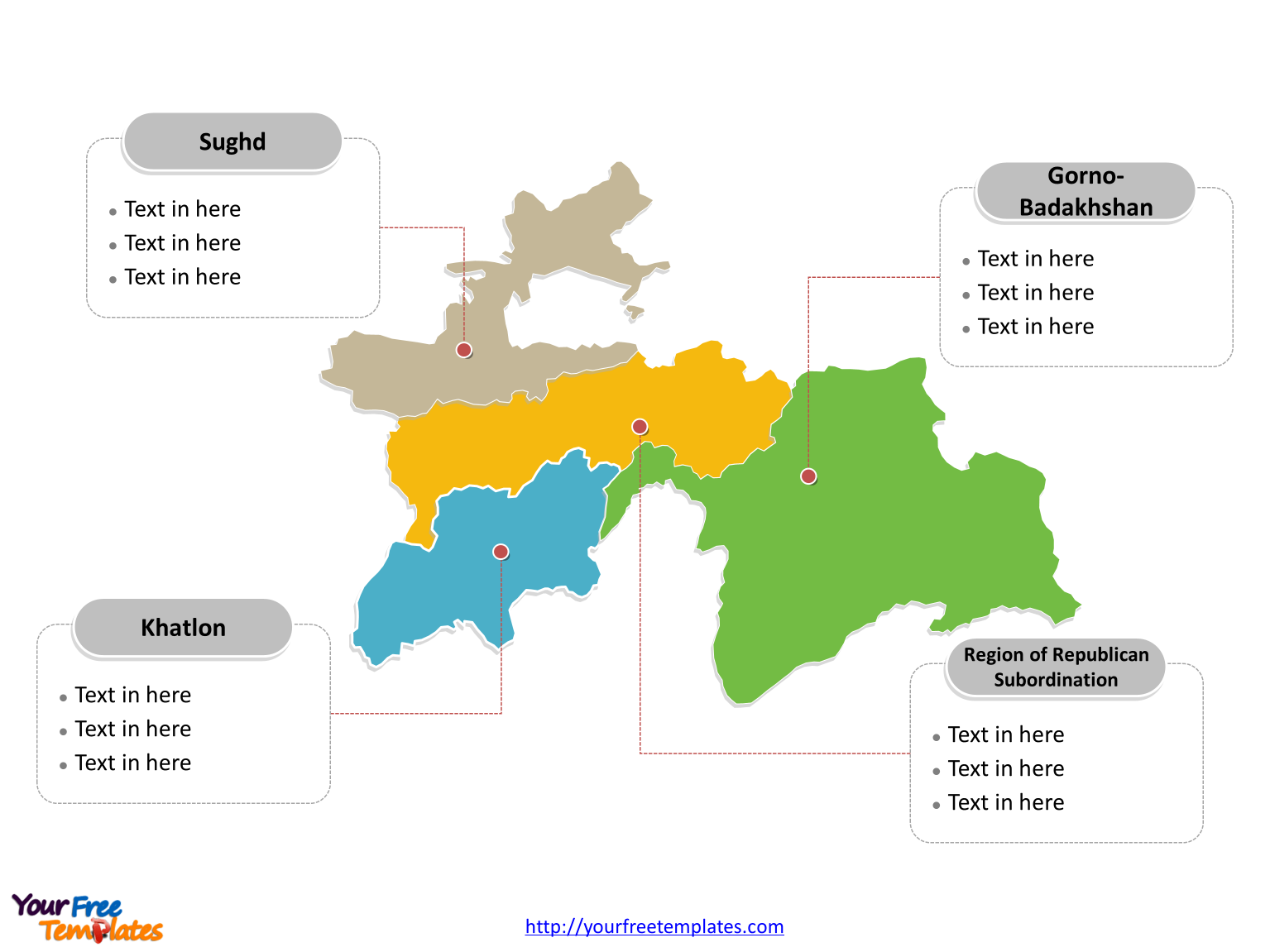 Free Tajikistan Editable Map Free PowerPoint Templates