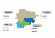 Andorra map labeled with major political Parishes