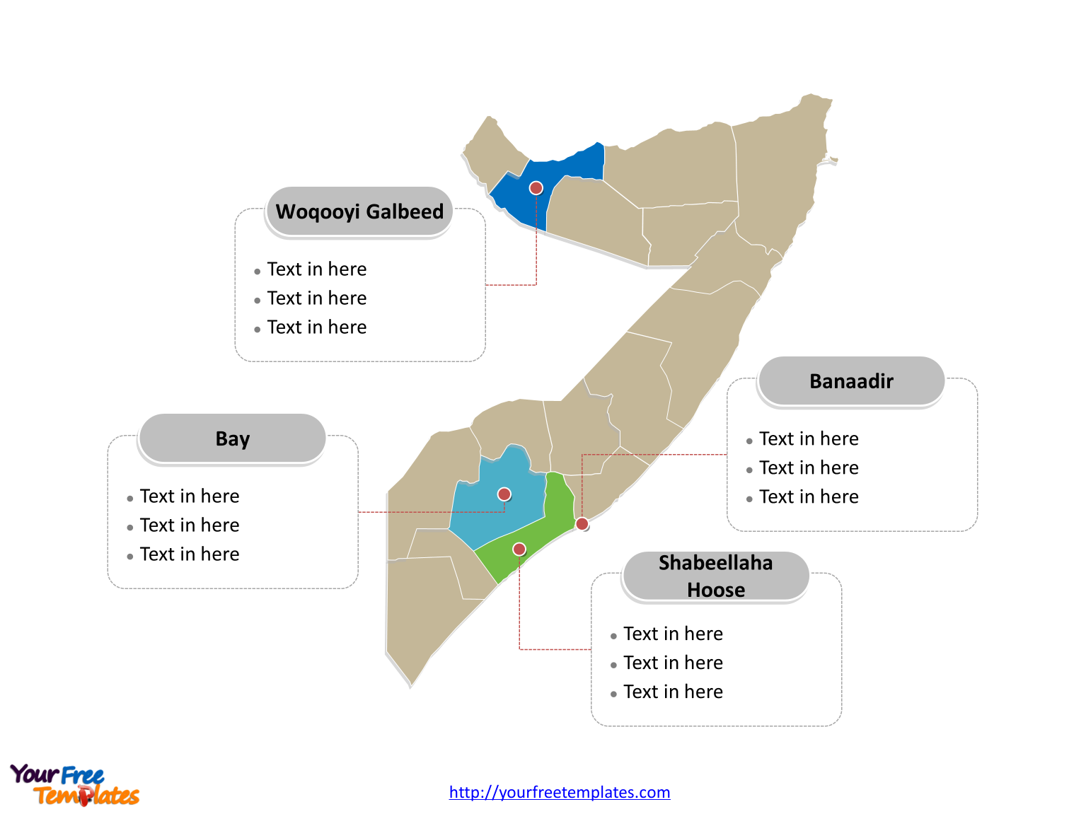 Free Somalia Map Template Free PowerPoint Templates