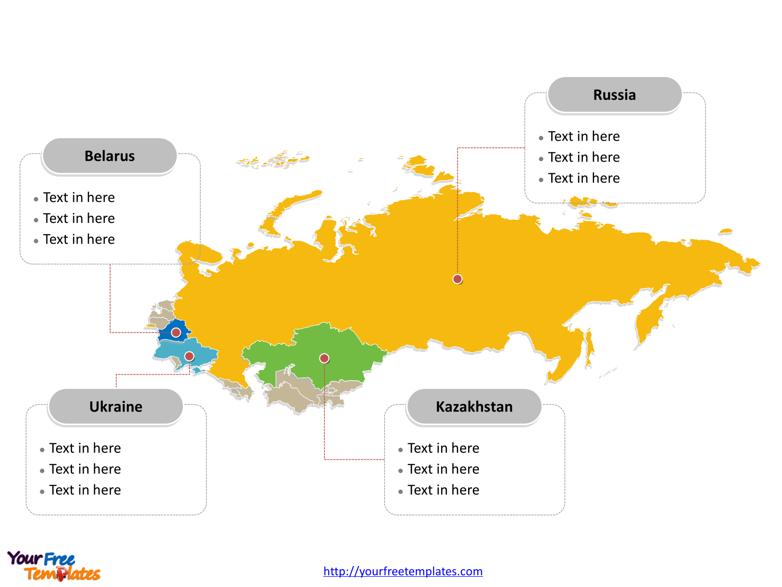 Free soviet union map template free powerpoint templates soviet union map labeled with major political states toneelgroepblik Images