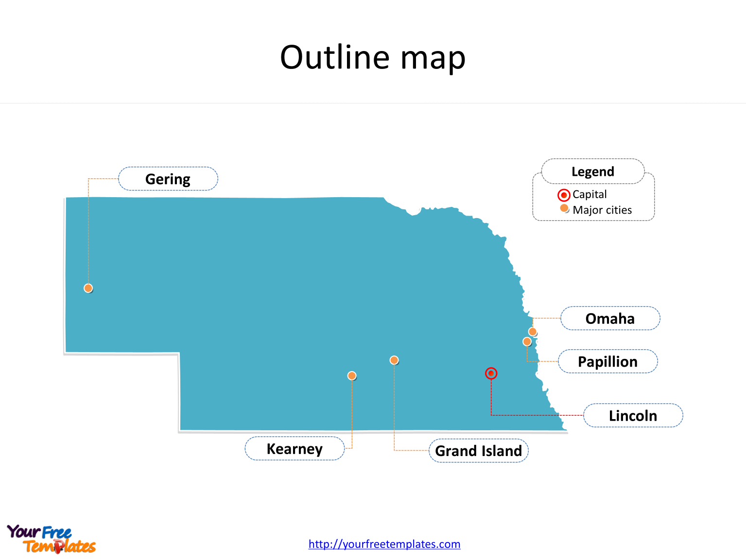 Nebraska Map Powerpoint Templates Free Powerpoint Templates