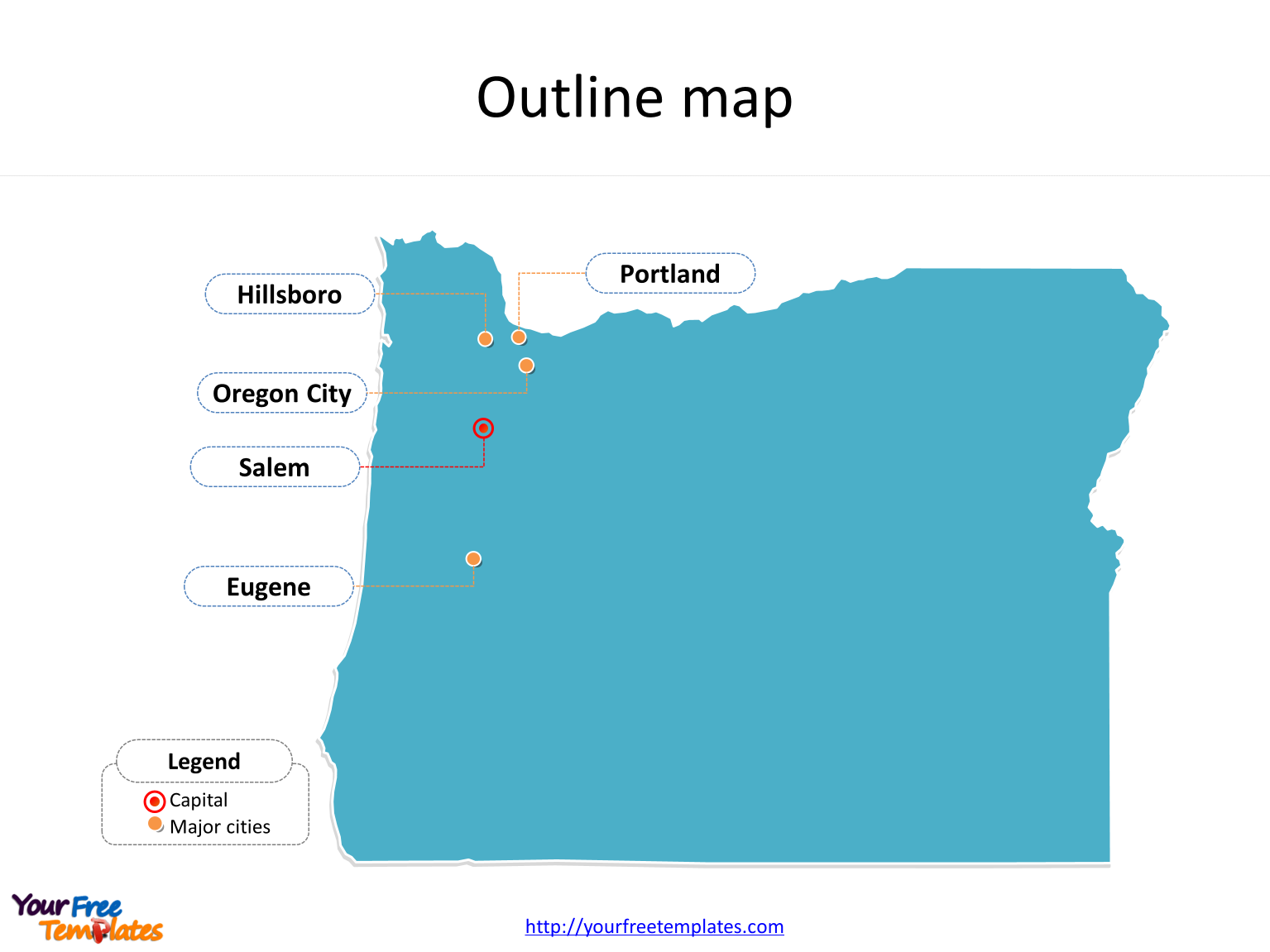Oregon map powerpoint template free powerpoint templates for Oregon state powerpoint template