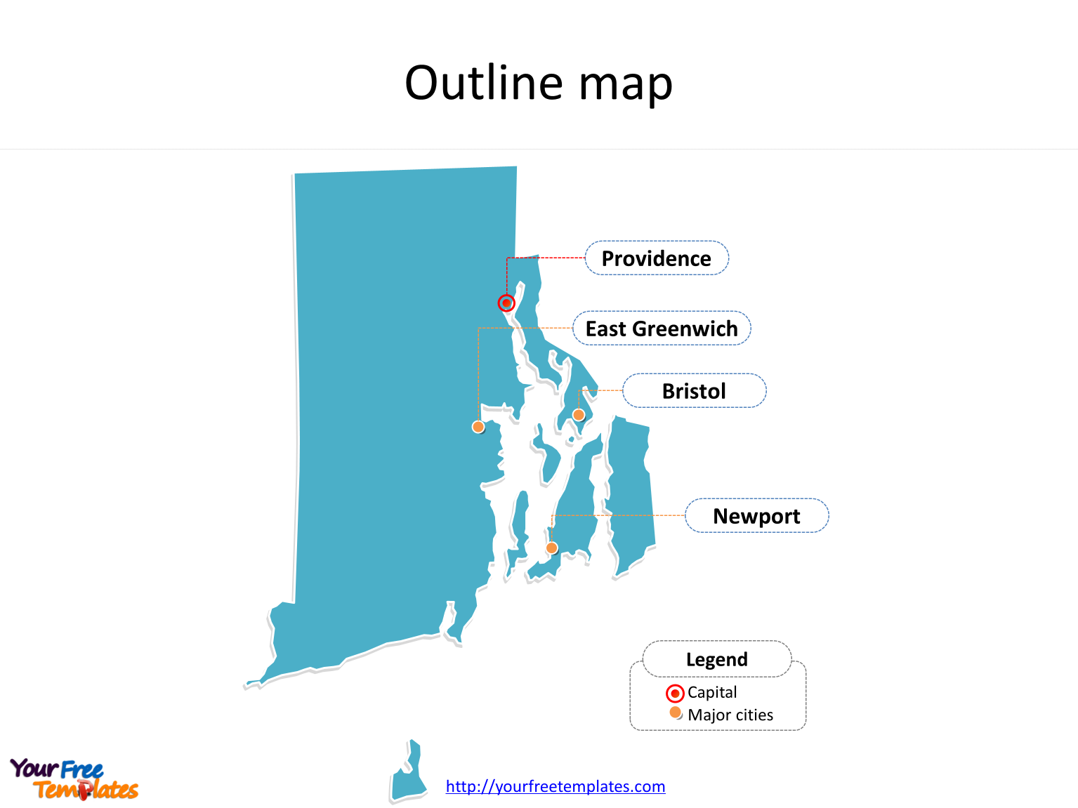 Rhode Island map templates - Free PowerPoint Templates
