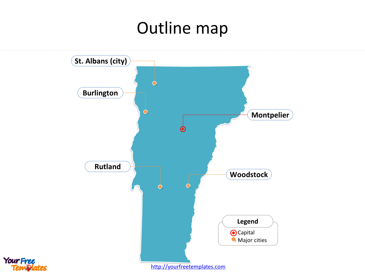 Vermont map PowerPoint templates - Free PowerPoint Templates
