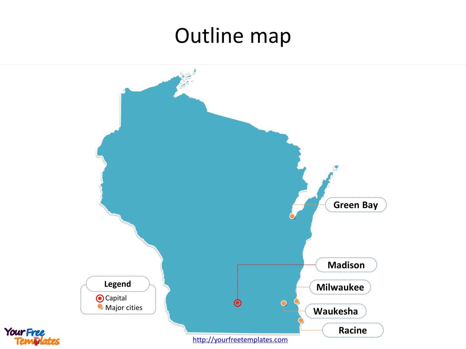 Wisconsin Map Powerpoint Templates Free Powerpoint Templates