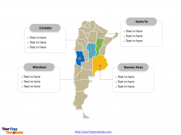 Argentina Political map label with major administration districts