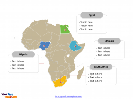 Africa Political map labeled with major countries