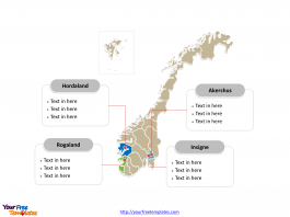 Norway Political map labeled with major counties