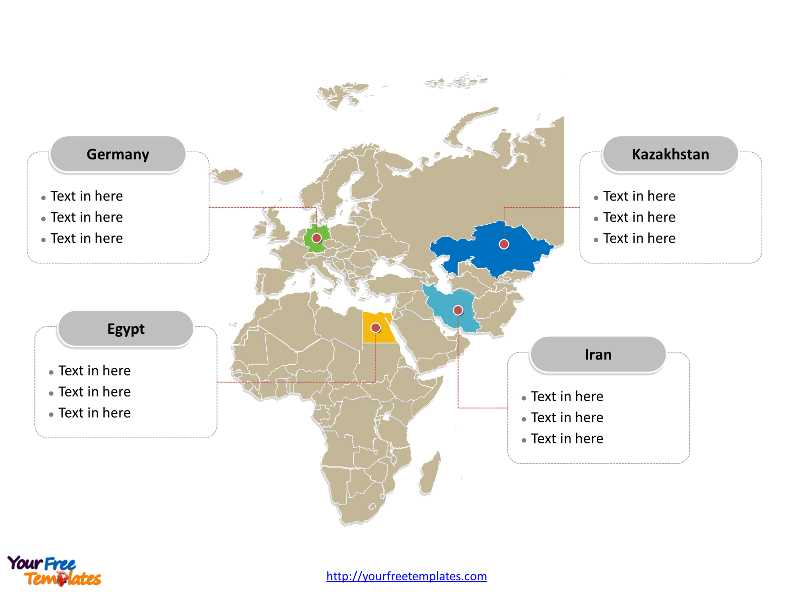 EMEA editable Map labeled with all countries for EMEA map