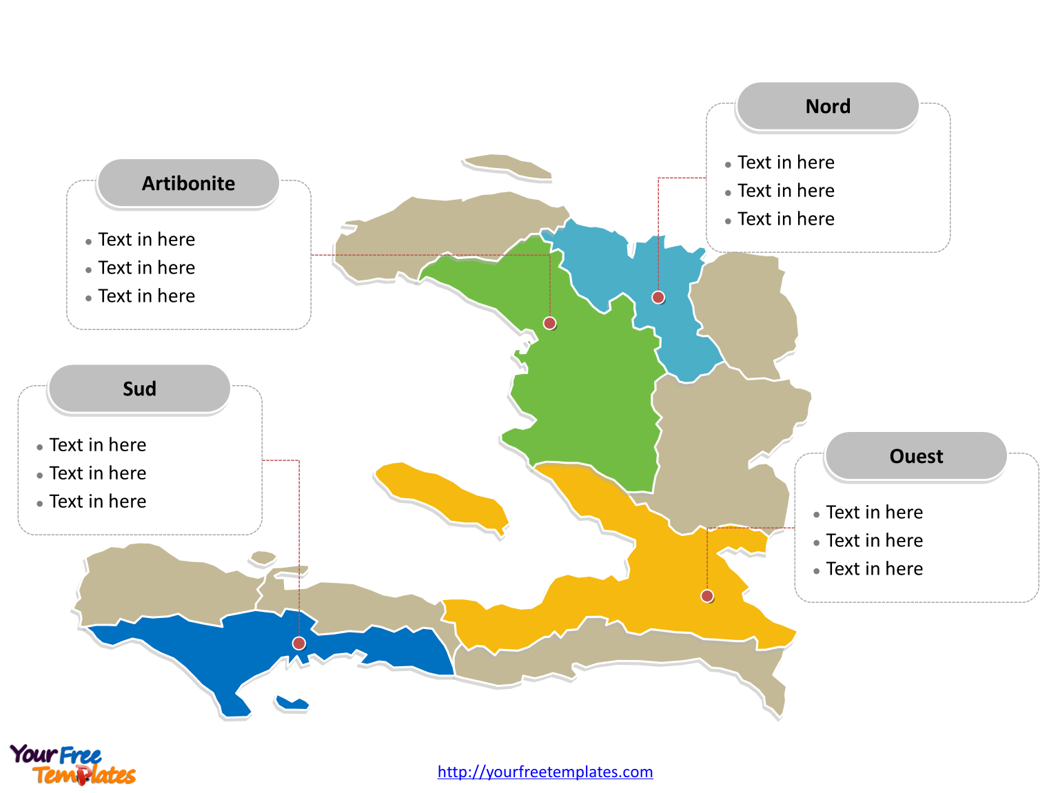 Free haiti editable map free powerpoint templates haiti political map labeled with major departments gumiabroncs Images