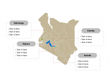Kenya Political map labeled with major counties