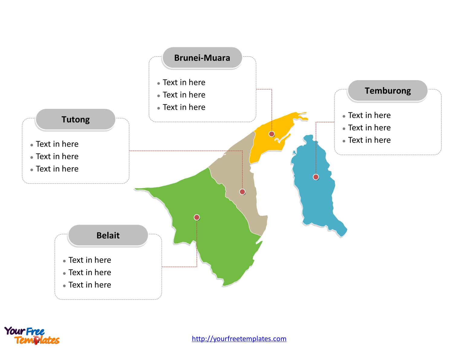 Picture of: Free Brunei Editable Map Free Powerpoint Templates