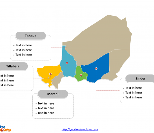 Western africa archives free powerpoint templates free niger map template toneelgroepblik Image collections