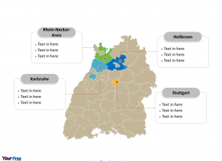 Germany States Archives Free PowerPoint Templates - Germany map template
