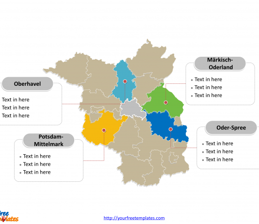 Germany states archives free powerpoint templates free downloads brandenburg map toneelgroepblik Images