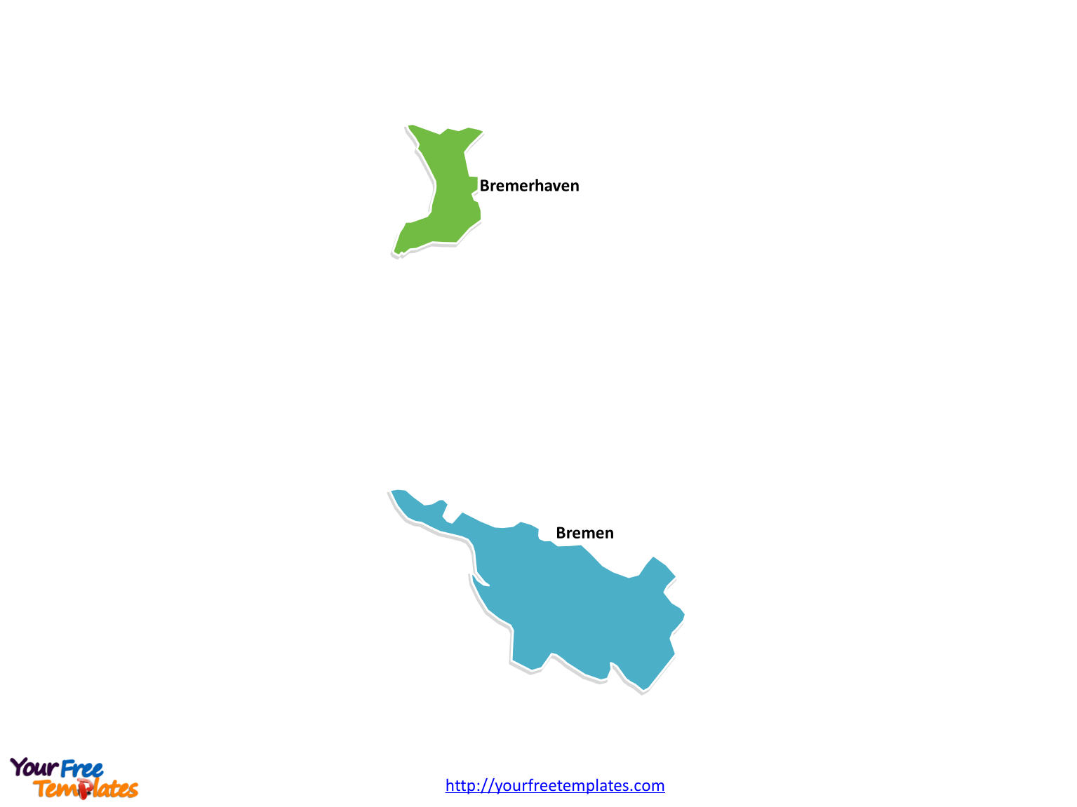 Bremen map with blank outline
