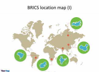 Create map for BRICS with country outline maps