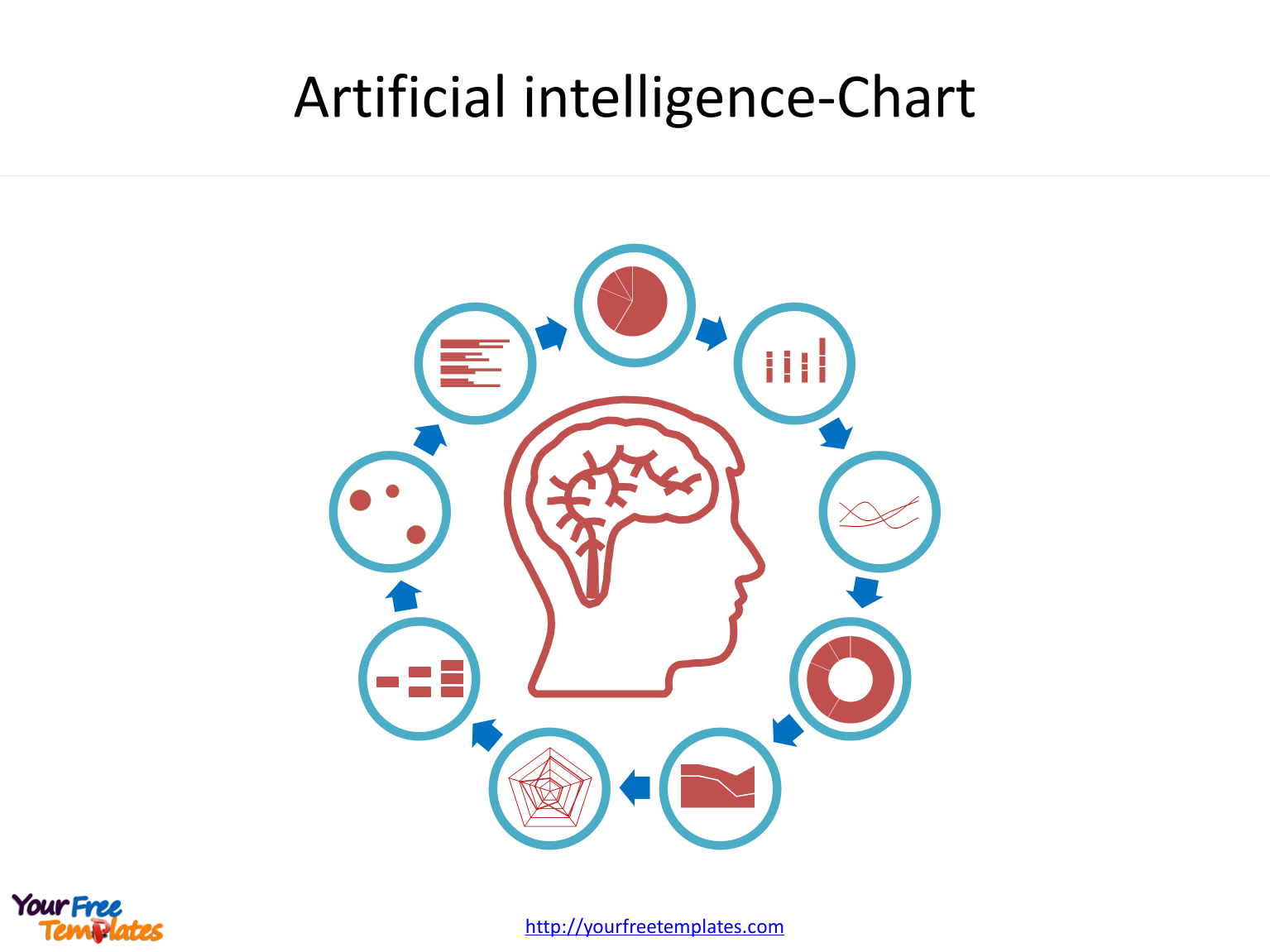 Artificial intelligence PowerPoint templates with chart icons