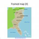 Framed_US_maps_State_Map_for_South_Atlantic_States
