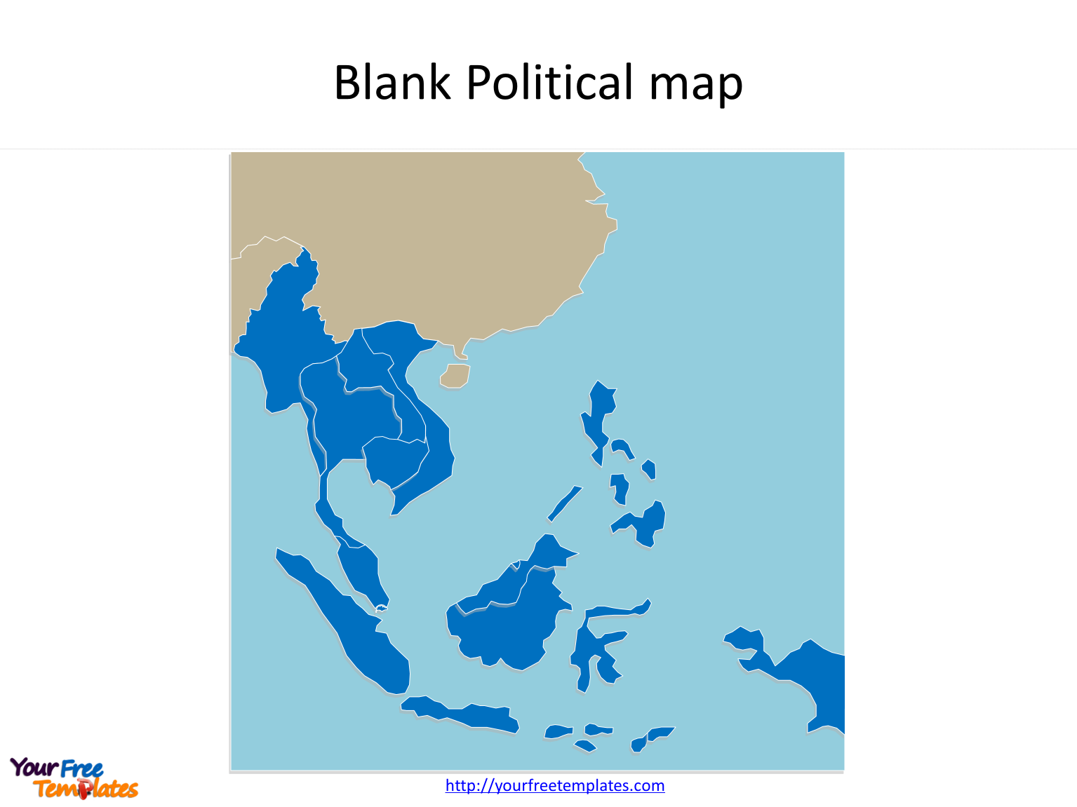 Map of Southeast Asia with individual Southeast Asia map countries on the Southeast Asia map free templates