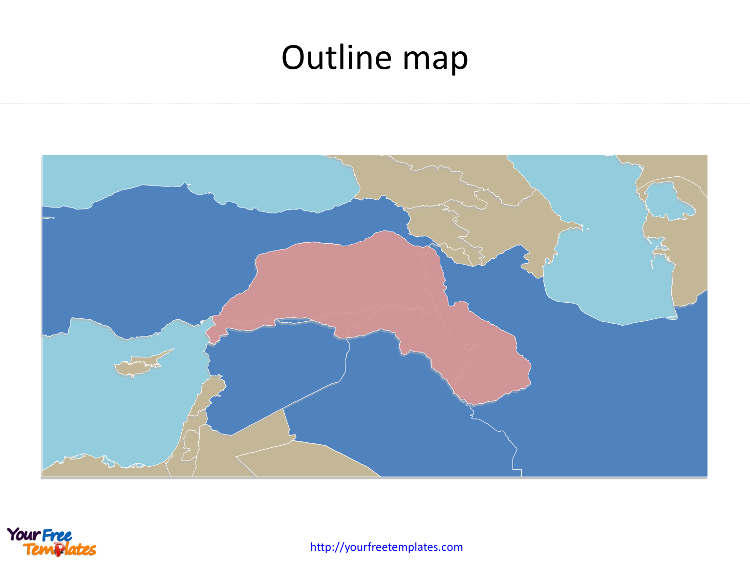 Map of Kurdistan with outline labeled on the Kurdistan map free templates