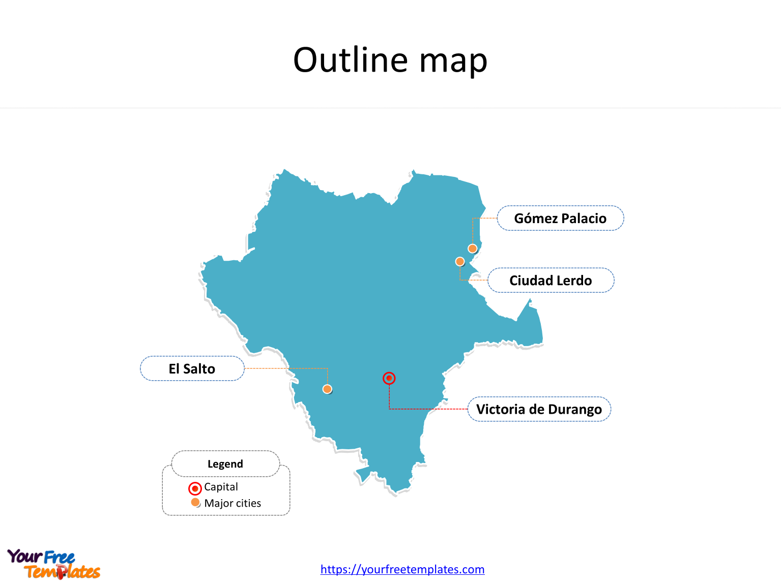 state of durango mexico map Durango Map Template Free Powerpoint Templates