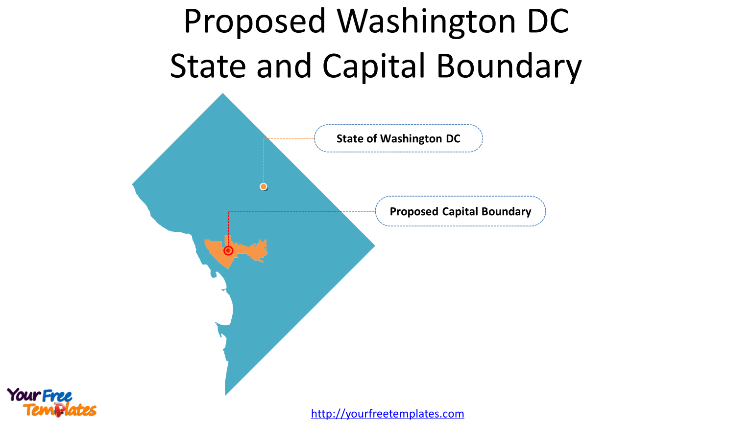 Proposed Washington DC State and Capital Boundary